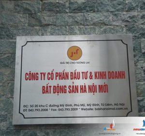 Địa chỉ làm biển công ty tại Hà Nội giá rẻ, uy tín, chất lượng