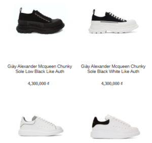 Báo giá giày Alexander Mcqueen Sneaker Like Authentic tại Swagger